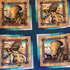 NATIVE AMERICAN cotton fabric Tribal Elements 6 Pillow Quilt Blocks 46x54