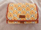 Very Cute FOSSIL Multi Color Canvas Make Up Travel Bag Medium