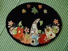 Gnome in the Pumpkin Patch Candle Mat 11 1 2 x 9 oval