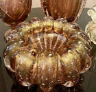 Murano Cristal Rose Glass 24K Gold Vase Luxury and Sophistication for your home