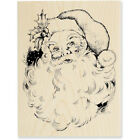 RETIRED Stampendous Jolly Santa Christmas Rubber Stamp