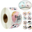 500Pcs Roll Thank you Stickers Wedding Flower Baking Handmade Adhesive Label New