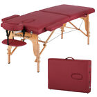 Refurbished BestMassage Burgundy PU Portable Massage Table W Free Carry Case