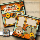 FALL HARVEST MEMORIES 2 premade scrapbook pages paper printed Digiscrap A0265