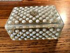 Anchor Hocking Hobnail Moonstone Opalescent Cigarette Box w/ Lid Deco 1940's