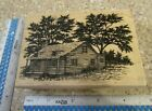 LARGE CABIN MW RUBBER STAMP STAMPSCAPES 141G