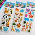 3D Puffy Bubble Stickers Animal Cartoon Princess Cat Waterpoof DIY For Children