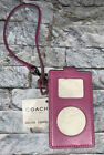 NWT! COACH PINK LEATHER IPOD CASE & With HEART CHARM STRAP
