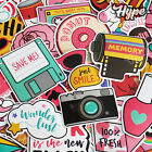 60 Hydro Flask Sticker Pack Cute Water Bottle Pink Laptop Stickers for Girls