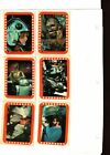 1977 Topps Star Wars Sticker Card Set OF 11 Series 5 Orange Good TO Very Good