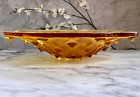 Lalique Crystal Large Amber Serpentine Centerpiece Bowl 15