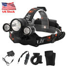 BORUiT 100000Lm RJ3000 Green White LED Headlamp HeadLight Torch Flashlight 18650