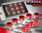 M8 X 1.25 For Honda Acura I4 4Cyl Red Motor Header Aluminum Washer Cup + Bolts