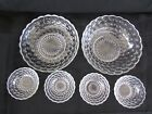 Vintage 1940 ANCHOR HOCKING FIREKING CRYSTAL BUBBLE Bowl Berry Set - 6 PCS