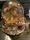 MUSICAL SNOW GLOBE NATIVITY REVOLVING BASE SILENT NIGHT RESIN GLASS GLOBE  5789