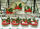 Libbey Holly And Berries Double Old Fashioned Set Of Seven