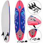 6 Surfboard Surf Foamie Boards Surfing Beach Ocean Body Boarding Red