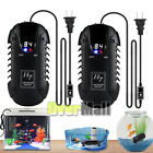 2x 200W 55FT Adjustable Auto Aquarium Fish Tank LED Digital Heater up to 60gal