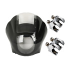 Black Quarter Head Fairing Clear Windshield Clamp Kit For Harley Sportster Dyna