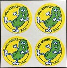 4 Block Vintage Trend Matte Scratch  Sniff Stickers Dill Pickle Mint
