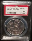 PSA 7 NM 7 - Patrick Ewing 1991 Starting Lineup NBA Coin New York Knicks