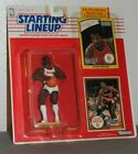 1990 Clyde Drexler Portland Trailblazers Starting Lineup figure with two cards