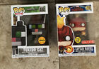 Funko Pop! Games Minecraft Tuxedo Cat Chase #332 And Captain Marvel Target Exc.