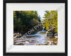 Photography Wall Art Print Flume Falls in Adirondacks Archival Qty Luster Paper