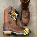 MENS SQUARED STEEL TOE WORK BOOTS DARK BROWN CLEARANCE ITEMS SAFETY TOE 800