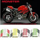 For DUCATI MONSTER RIM STRIPES STEREO PASTERS MOTORCYCLE WHEEL DECALS TAPE