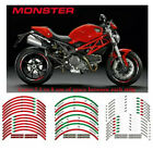 For DUCATI MONSTER 695 696 796 1100 RIM STEREO PASTERS STRIPES WHEEL DECALS TAPE