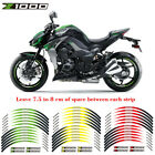 For Kawasaki Z1000 ZR1000 STEREO PASTER RIM STRIPES MOTORCYCLE WHEEL DECALS TAPE