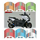 For YAMAHA TMAX XP500/300 STEREO PASTER RIM STRIPES MOTORCYCLE WHEEL DECALS TAPE