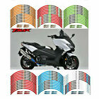 Motorcycle Rim Stripes Wheel Decals Tape Stickers For YAMAHA TMAX XP500/300