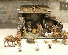 Fontanini 23 Piece Nativity Set with 5 Figures Animals and Large Stable