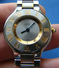 *MUST DE CARTIER 21 WOMEN'S WRISTWATCH 1340 WITH TWO TONE STAINLESS