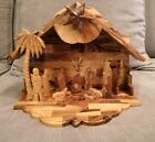 Musical Olive Wood Nativity Set from the Holy Land Hand Carved in Bethlehem