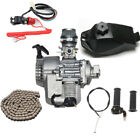 49cc 47 50cc 2 Stroke Engine Motor + Fuel Tank + Throttle Cable + T8F Chain