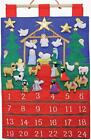 Nativity Tidings of Joy Fabric Advent Countdown Calendar Wall Hanging VC206 Tree