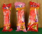 Lot of 3 Red Happy Valentine's Day Heart PEZ Dispensers No Feet Stem Hungary NIP