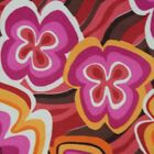 Flower Power Fabric 2 yds Retro Fuchsia Live Coral Psychedelic Stretchy Hippie