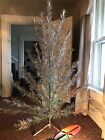 Vintage Aluminum CHRISTMAS TREE Complete w Box and Working Color Wheel 6 Ft