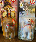 Ty Beanie Babies Britannia The Bear New Plus Added Maple To Make Set Of 2 Deal