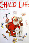Norman Rockwell SANTA CLAUS Christmas Toys Trains 1953 Child Life Cover  Matted