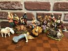 Vintage Antique Italian 16 Pc Nativity Set Italy