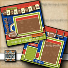 FOOTBALL 2 premade scrapbook pages printed paper piecing layout Digiscrap A0282