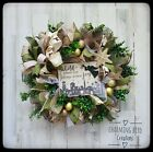 Christmas Wreath Winter Wreath Nativity Wreath Christmas Decor Nativity Deco