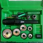 Greenlee Tool 1 2 2 7907SB Speed Punch set 7804SB Hydraulic Knockout Driver