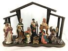 12 Pc Nativity Set African American Porcelain Figurines in Wood Creche JCPenney