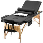 Refurbished 84L 3 Fold Portable Massage Table W Sheet Bolsters Carry Case 3